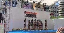 File:Cheerleading formations - Shimbashi - Tokyo area - 2018 7 26.webm