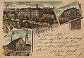 Chemnitz, Sachsen - Schillerplatz und Kgl. Gewerbeakademie; Bahnhof; Jacobikirche (Zeno Ansichtskarten).jpg