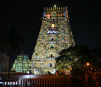 History of Chennai - The Kapaleeshwarar temple in Mylapore was built by the Pallava kings in the 7th century