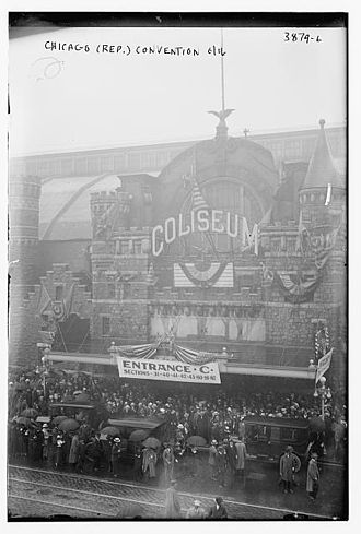 United States presidential election, 1916 - Republican Convention, The Coliseum, Chicago