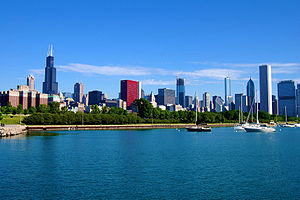 Landscape photograph of Chicago, Illinois. Tak...