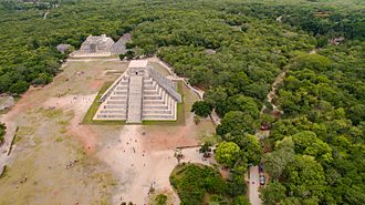 Chichen Itza - Aerial view of Chichen Itza