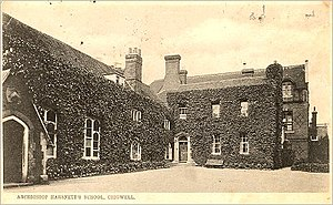 Samuel Harsnett - Chigwell School, which Harsnett founded, circa 1904