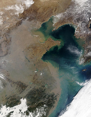 Asian brown cloud - Atmospheric Brown Cloud over China