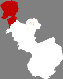Location in Anshan City