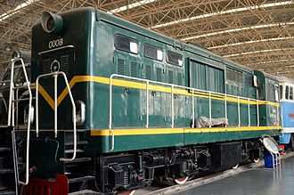 China Railways DFH shunting locomotives - DFH2 0008