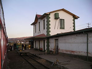 Chocontá - Image: Choconta station