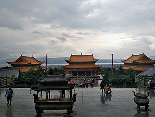Chongshen Temple building in Dali, China