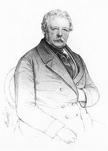 Karl von Schiller auf einer Lithographie von Christian Pfann, 1854 (Quelle: Wikimedia)