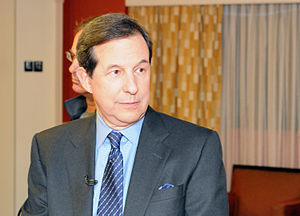 English: Chris Wallace of Fox News seen at the...
