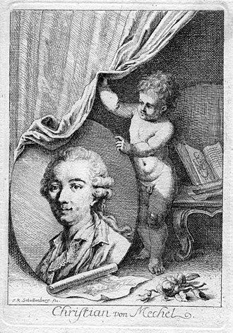 Christian von Mechel - Engraving of Christian von Mechel, by one of his students.