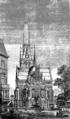 Christuskirche Hamburg-Eimsbüttel Zeichnung der zukünftigen Außenanlage (Deutsche Bauzeitung 1883).png