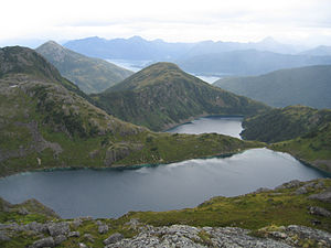 Chugach Mountains - Alpine lakes in the Chugach Mountains