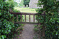 Church at Mashbury, Essex, England, churchyard gate at east.JPG