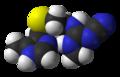 Cimetidine-xtal-3D-vdW.png