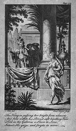 Samuel Croxall - Isaac Taylor's illustration for The Fair Circassian, 1765