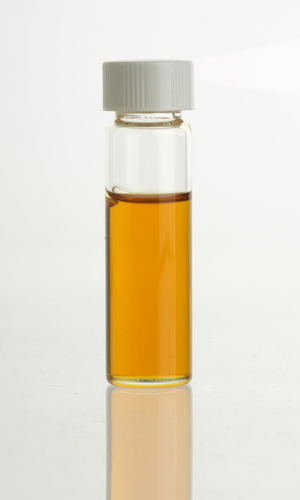 Cistus ladanifer - Cistus (C. ladanifer) essential oil in clear glass vial