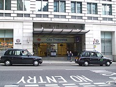 City Thameslink stn Ludgate Hill entrance.JPG
