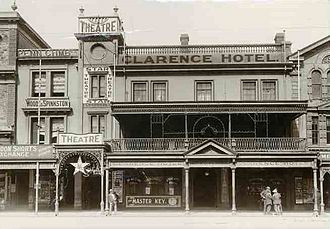 White's Rooms - Image: Clarence Hotel Adelaide 1914