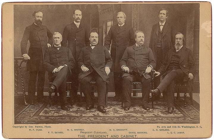 Cleveland's first Cabinet.