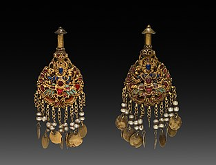 Pair of Earrings with Vishnu Riding Garuda