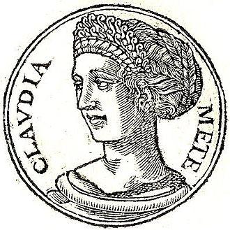 Clodia Pulchra (wife of Metellus) - Clodia from the Promptuarii Iconum Insigniorum