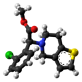 Clopidogrel molecule ball from xtal.png