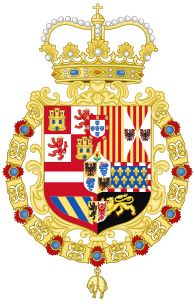 Coat of Arms of the King of Spain as Monarch of Milan (1580-1700).svg