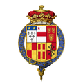 Coat of arms of Henry Fiennes Pelham-Clinton, 2nd Duke of Newcastle, KG, PC.png