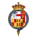 Coat of arms of Henry Fiennes Pelham-Clinton, 9th Earl of Lincoln, KG.png