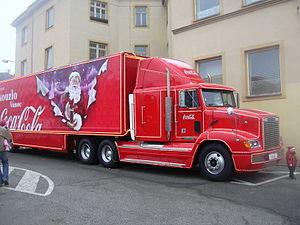 Coca-Cola Christmas truck (Vyškov- Czech republic)