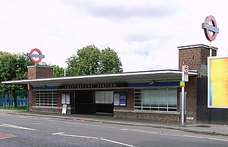 Cockfosters tube station - Image: Cockfosters Exterior better