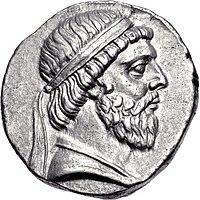 Coin of Mithradates I of Parthia, Seleucia mint.jpg