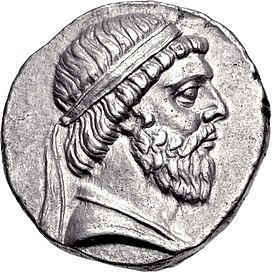Coin of Mithradates I of Parthia, Seleucia mint.jpg