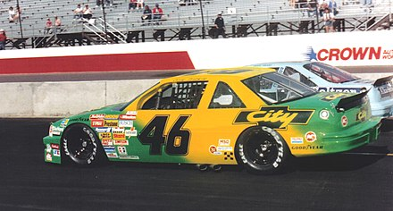 Greg Sacks' No. 46 City Chevrolet car at Phoenix in 1989 ColeTrickle46DaysofThunderCar.jpg