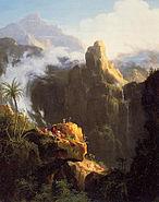 Cole Thomas Landscape Composition Saint John in the Wilderness 1827