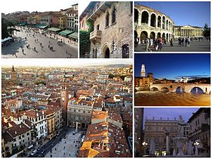 Italiano: Collage di varie foto di Verona