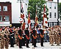 Colour Party 3Bn Yorkshire Regiment (Duke of Wellington's) At Rotherham Town Hall (RLH-800x600).jpg