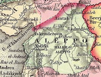 Aleppo Eyalet - Image: Colton, G.W. Turkey In Asia And The Caucasian Provinces Of Russia. 1856 (FA)