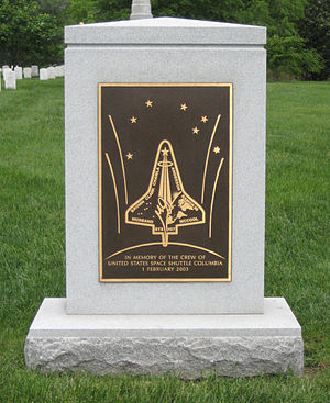 Columbia Accident Investigation Board - Columbia memorial in Arlington National Cemetery