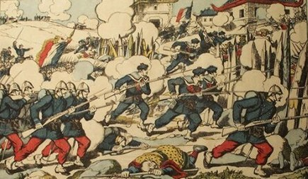 The battle of Kep, 8 October 1884 Combat de Lang-Kep.jpg