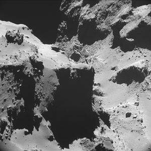 Comet 67P on 20 October 2014 NavCam A.jpg