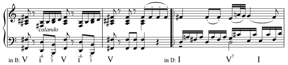 Common tone modulation between chromatic mediants in Mozart K 475