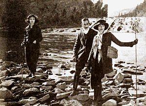 Charles K. Gerrard - l to r. Betty Hilburn, Gerrard (center) and Hedda Hopper in still from Conceit (1921)