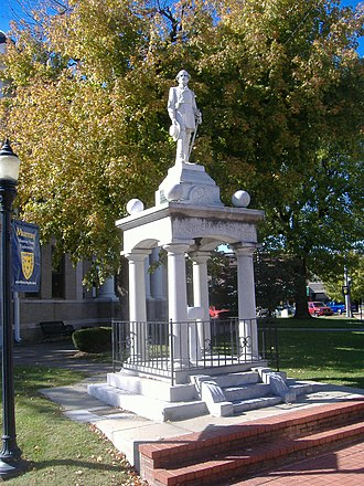 National Register of Historic Places listings in Calloway County, Kentucky - Image: Confederate Monument in Murray