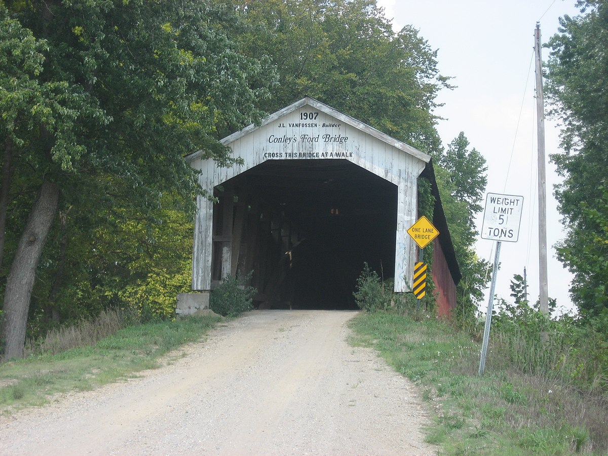 Conleys Ford Covered Bridge Wikipedia Burr Arch Truss Diagram Penn Central Savage Maryland