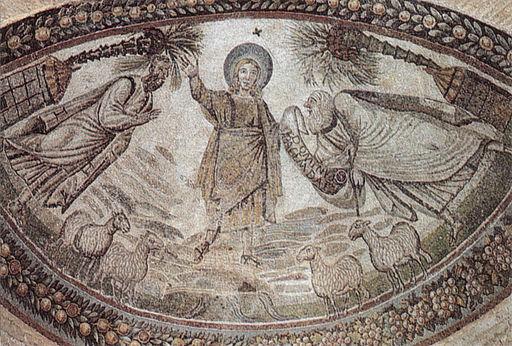 Consegna della legge, santa costanza roma mosaico IV secolo
