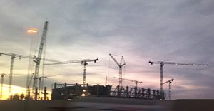 Baku Olympic Stadium - Construction of the stadium in Baku