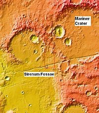 Context image for gullies in crater and trough.JPG