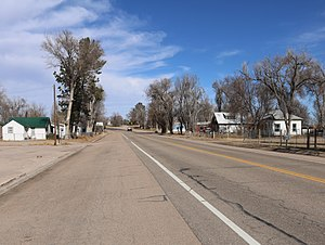 Cope, Colorado - U.S. Route 36 in Cope.